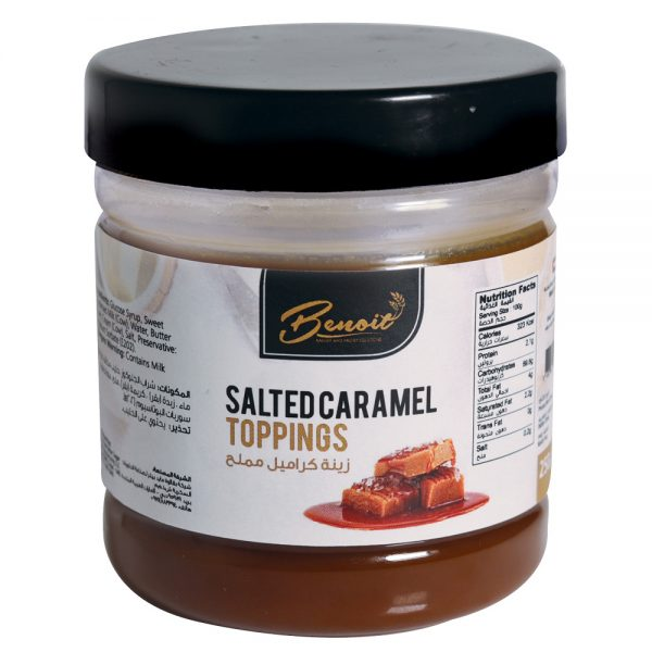 caramel topping with salt