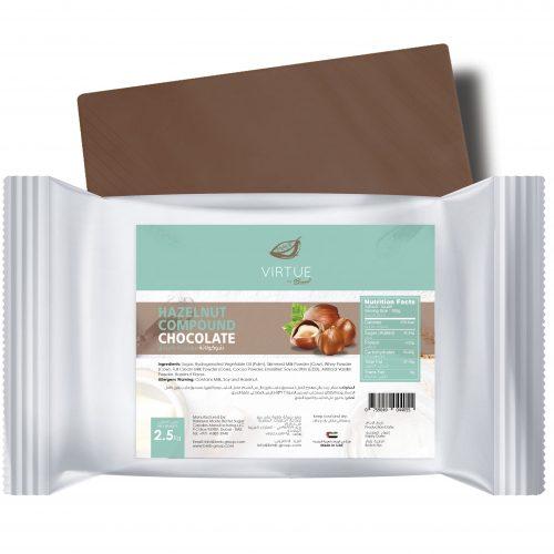 Hazelnut flavored chocolate